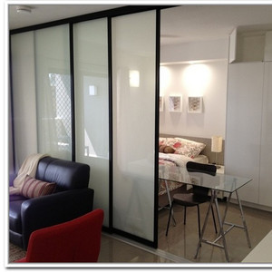 Commercial price wardrobe aluminium glass door designs factory