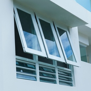 Double glazed french style awning windows supplier