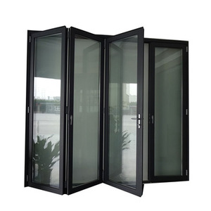 Toughened glass high quality aluminum folding doors exterior