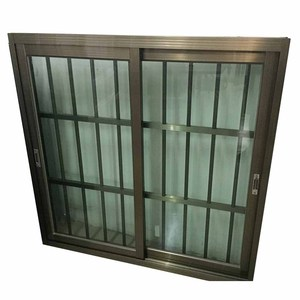 Customized design sliding window with anti shef iron grill