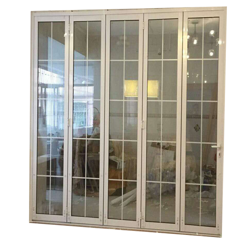 China supplier powder coated size customized aluminum folding door