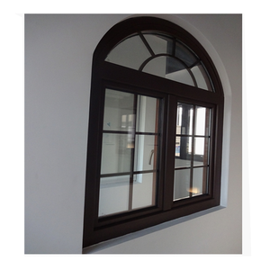 ALuminum profile tempered glass  arch top casement windows manufacturer