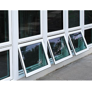 Low E glass soundproof mordern house aluminum awning windows